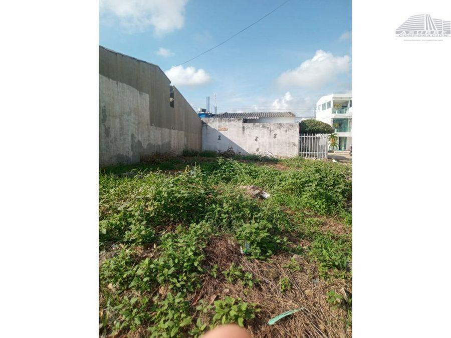 vendo lote en villa jardin monteria