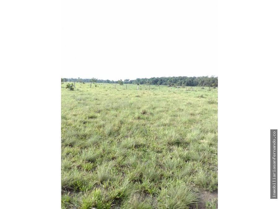 venta de terreno con rivera al rio tomo en vichada