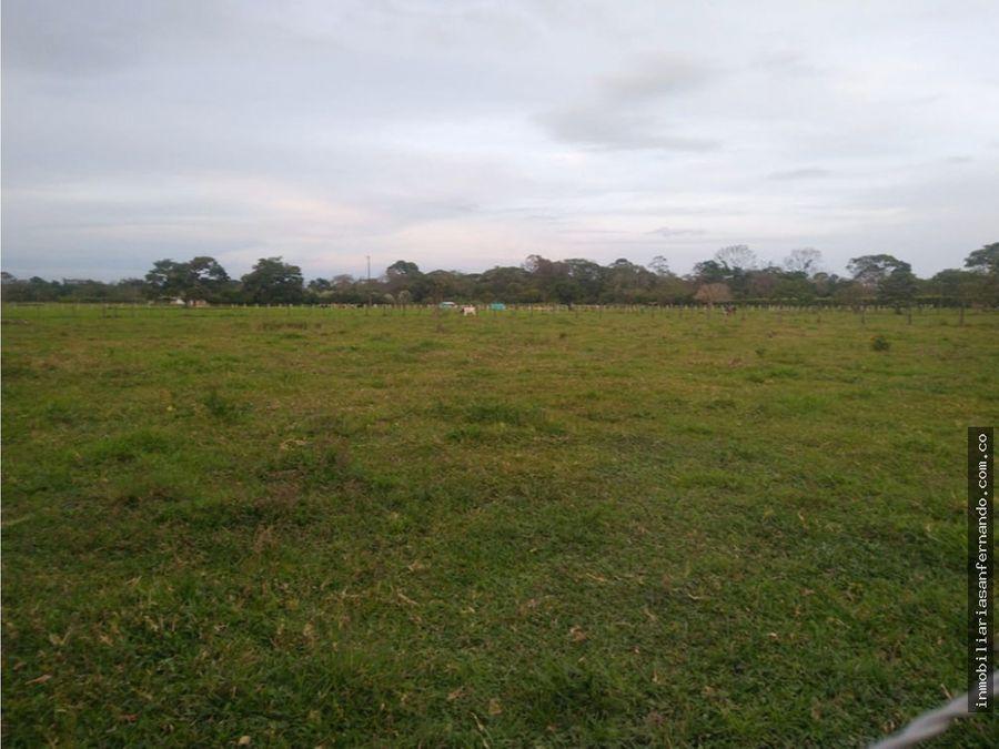 una 1 hectarea campestre entre acacias y guamal meta