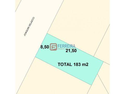terreno de 183 m2 con proyecto para 10 pisos