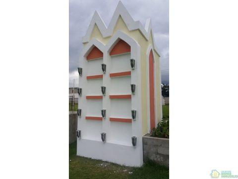mausoleo en venta cementerio privado xela