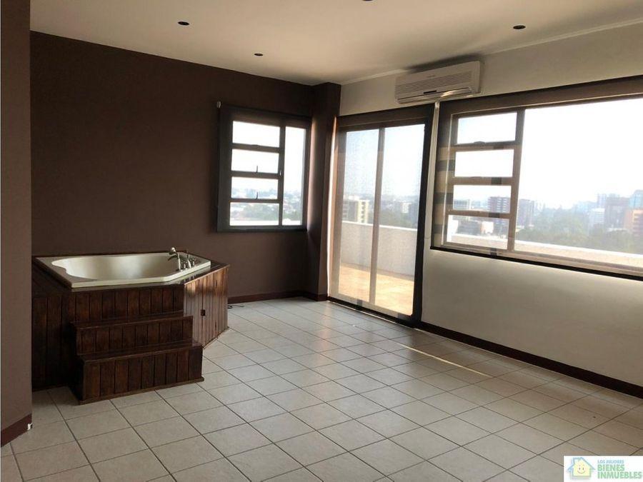 pent house en alquiler zona 14 guatemala