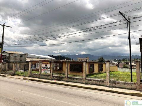 terreno en alquiler en la zona 5 de quetzaltenango