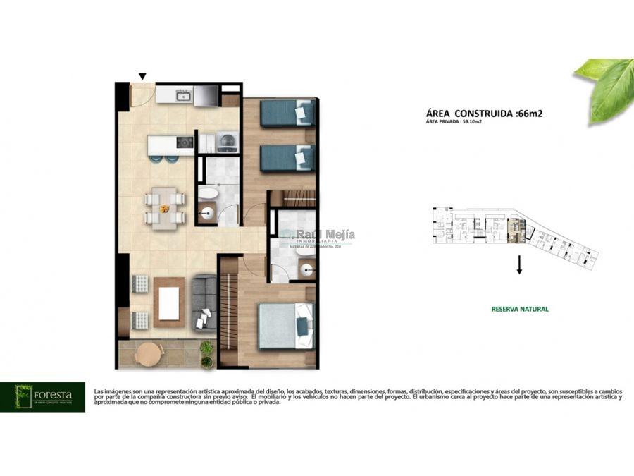 vendo apartamento de proyecto nuevo av 19 norte de armenia x 66 m2