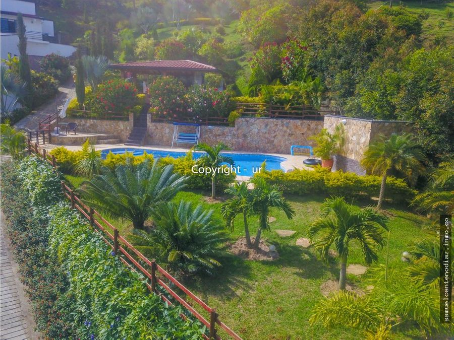 casa campestre en copacabana piscina vista silencio y paz
