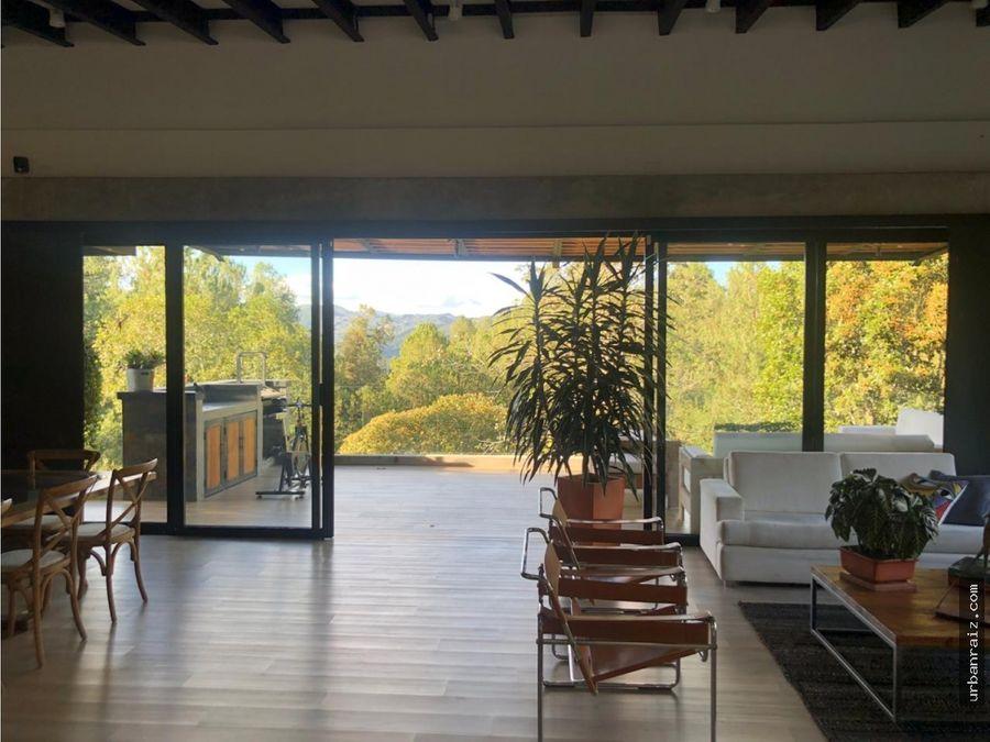casa campestre en el retiro moderna