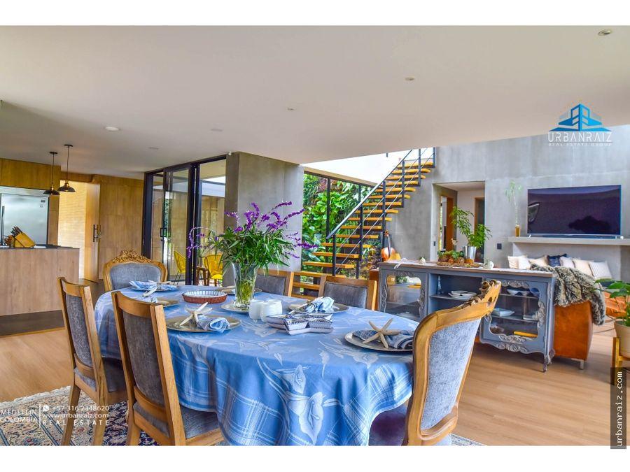 casa moderna en las palmas medellin acabados de lujo