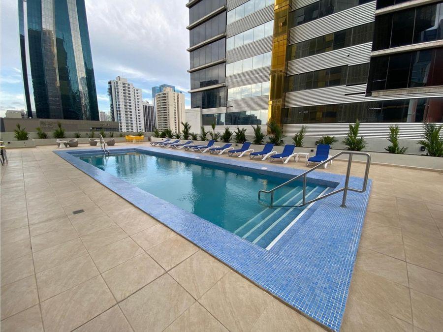 alquiler apartamento 1 recamara amoblado ph downtown 55 1000