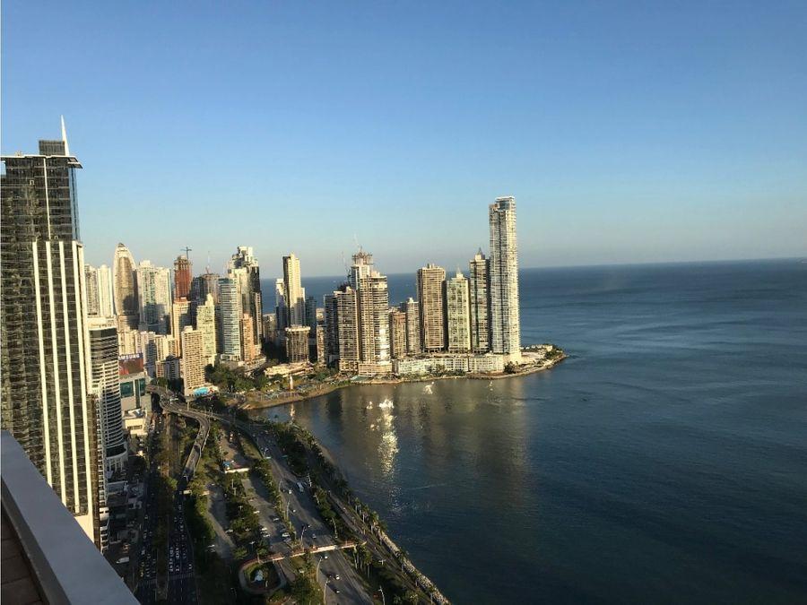 alquiler avenida balboa 2 recamaras amoblado ph vista del mar 1300