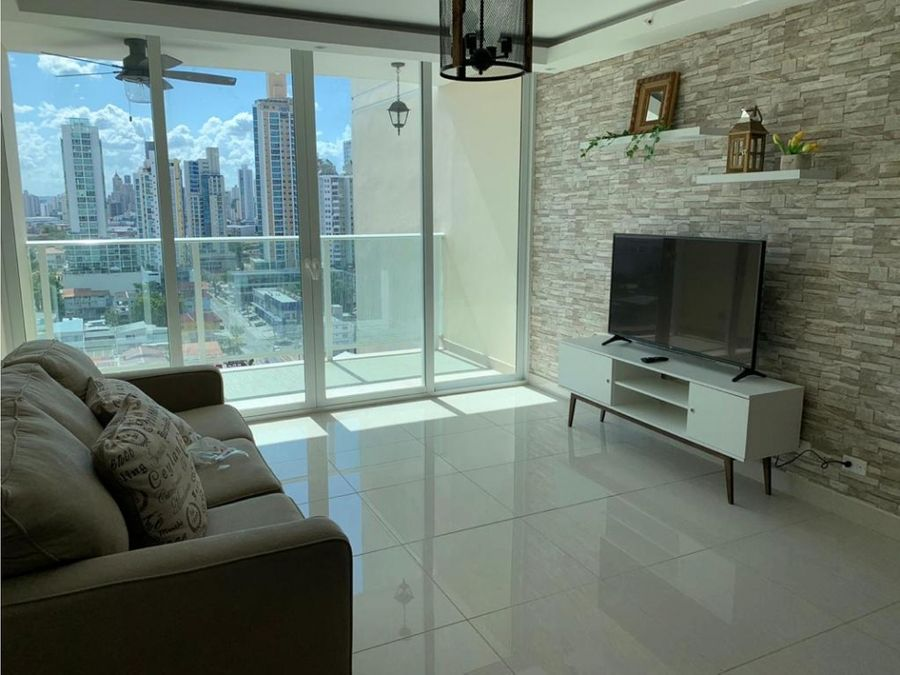 alquiler apartamento 2 recamaras amoblado nuevo ph genesis tower 1280