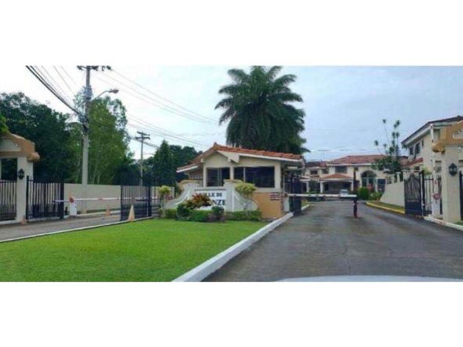 alquiler casa en albrook 3 recamaras amoblado ph villa firenze 2500