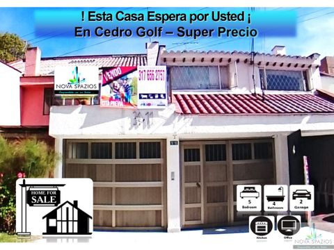 vendemos casa cedro golf 245mt2 oportunidad