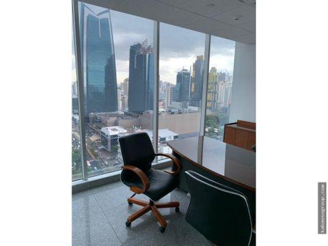 alquilo oficinas amobladas en torre global bankvarios metrajes