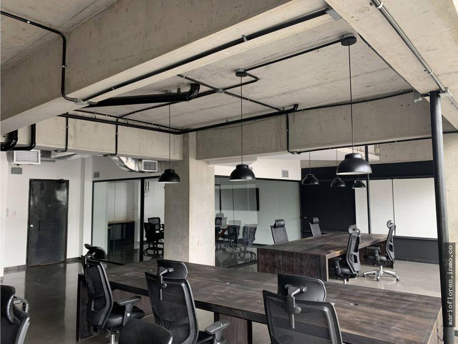 oficina amueblada en alquiler en 4grados norte