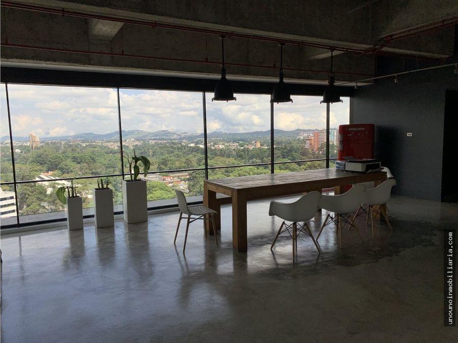 oficina en alquiler en design center zona 10