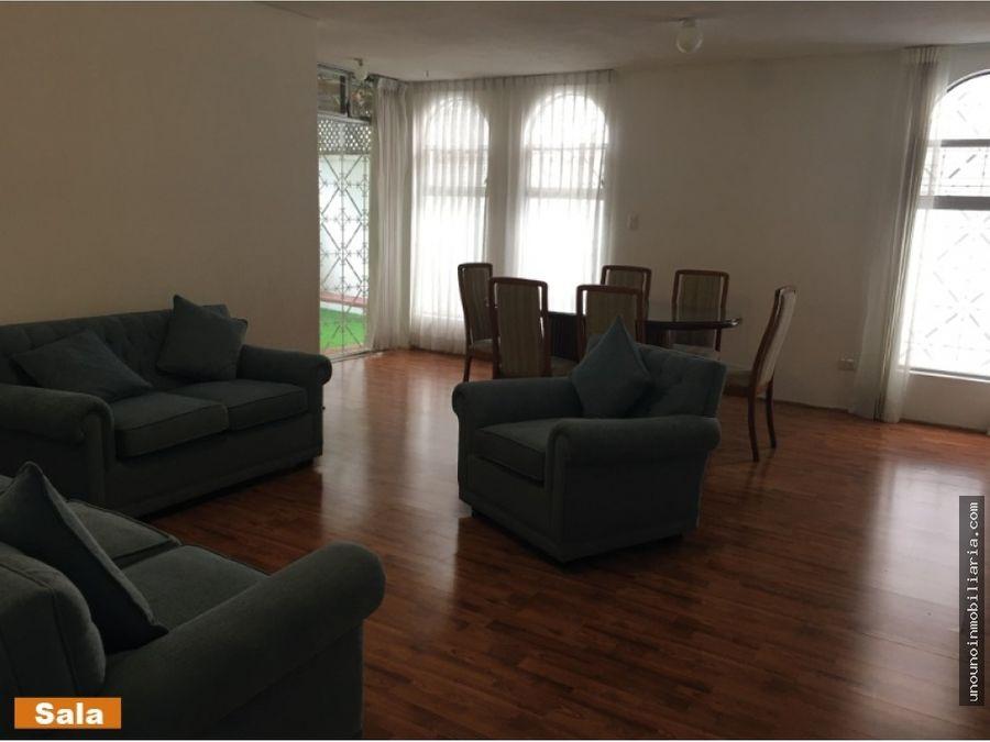 apartamento en alquiler en primer nivel en zona 15 vhi