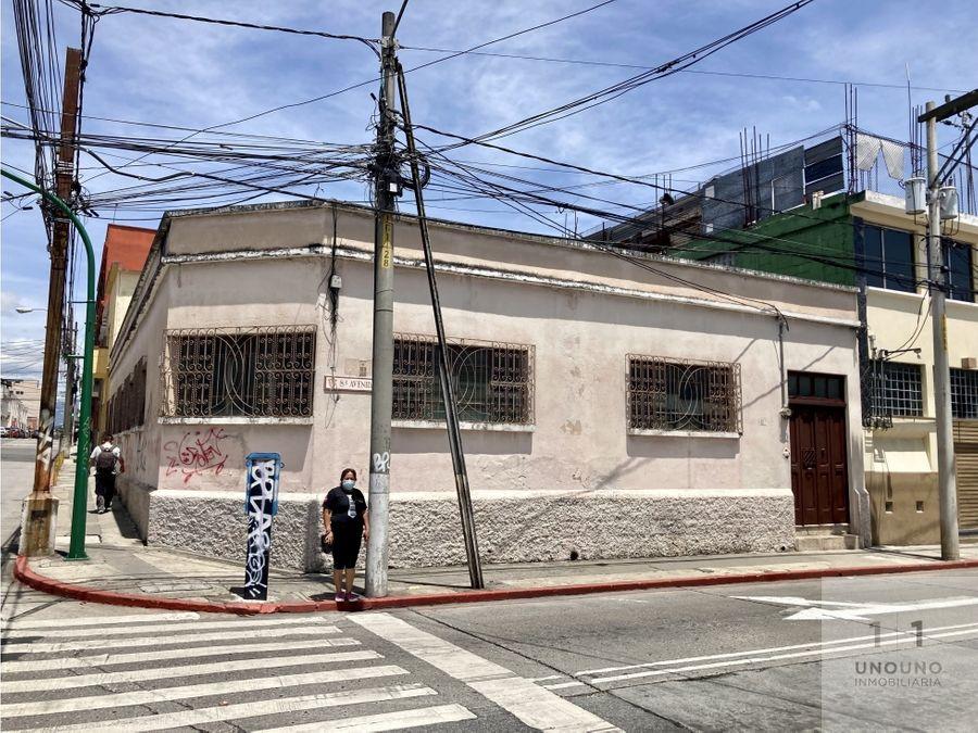casa en venta en zona 1