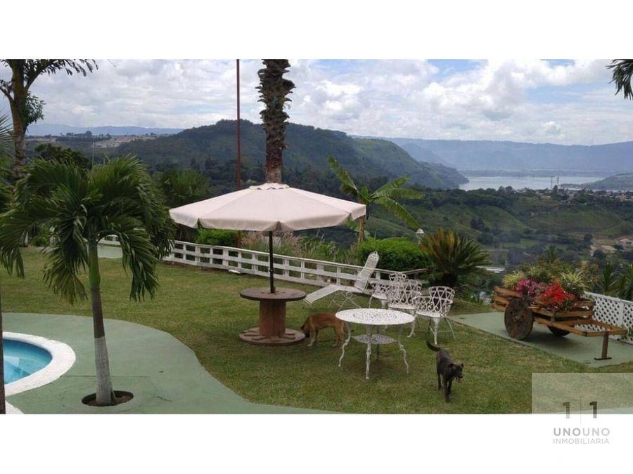 propiedad con vista hacia el lago de amatitlan