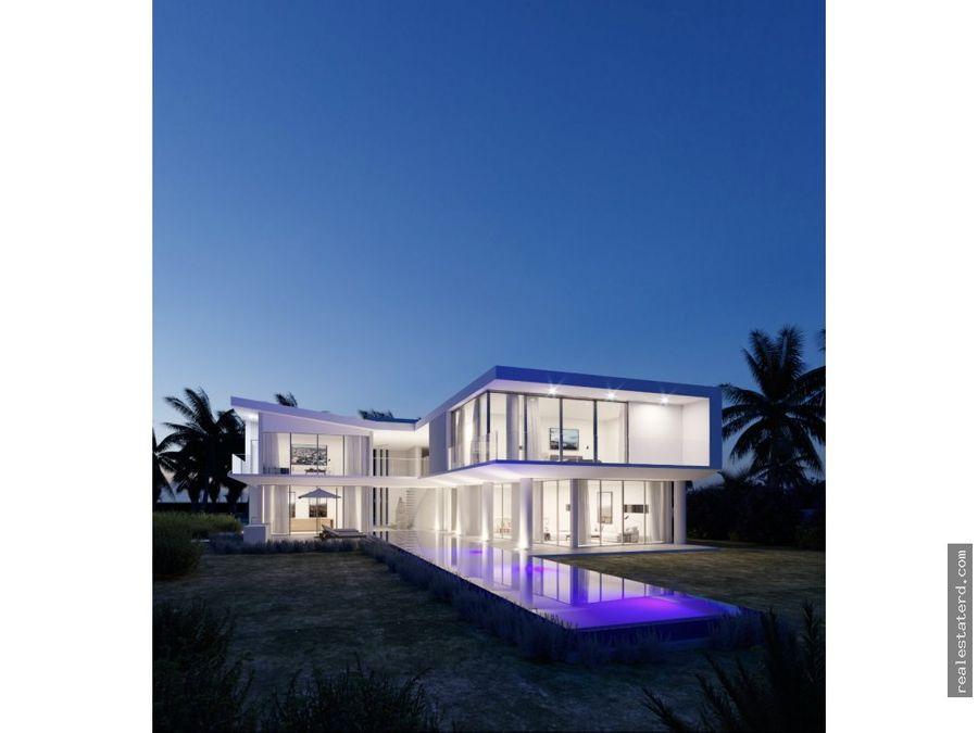villa en construccion con 5 hab y vista al mar y golf en cap cana