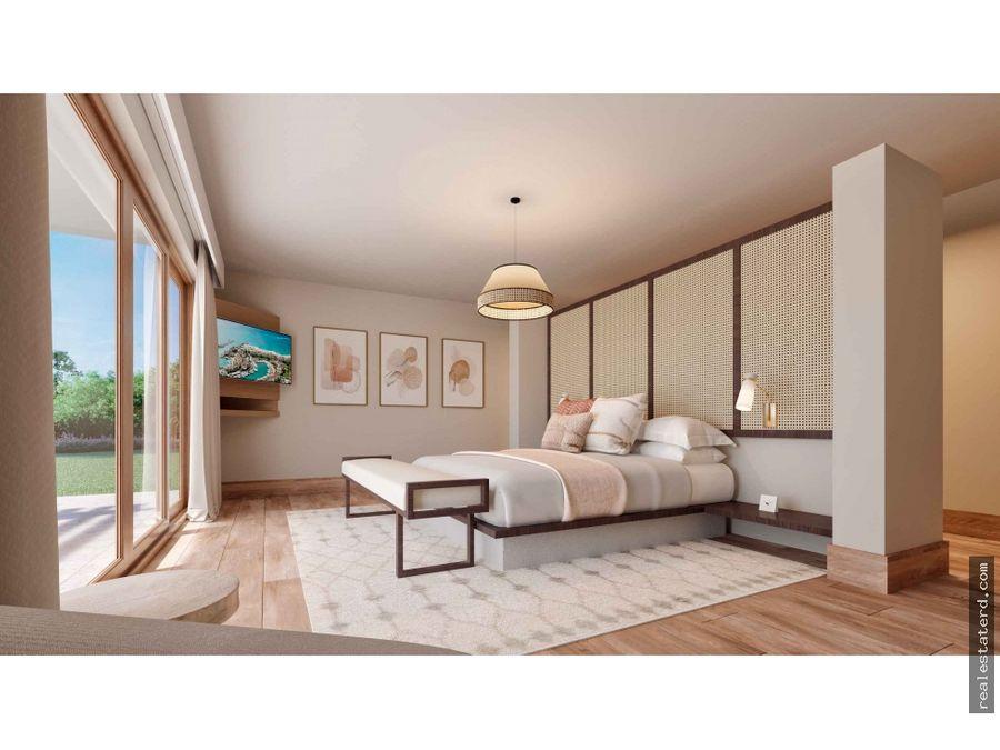 nueva villa de 2 niveles con 3 hab en green village cap cana