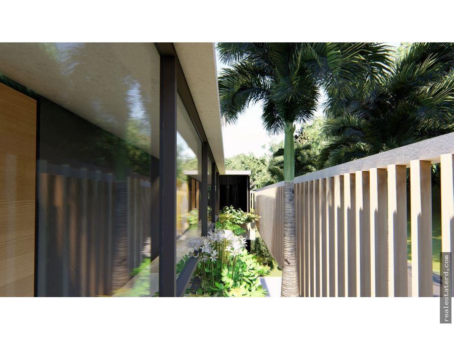hermosa villa corfu con 4 hab en construccion en caleton cap cana