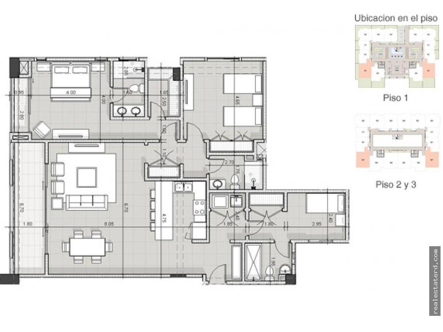 apartamento tipo b7 de 2 hab y cuarto de servicio en construccion