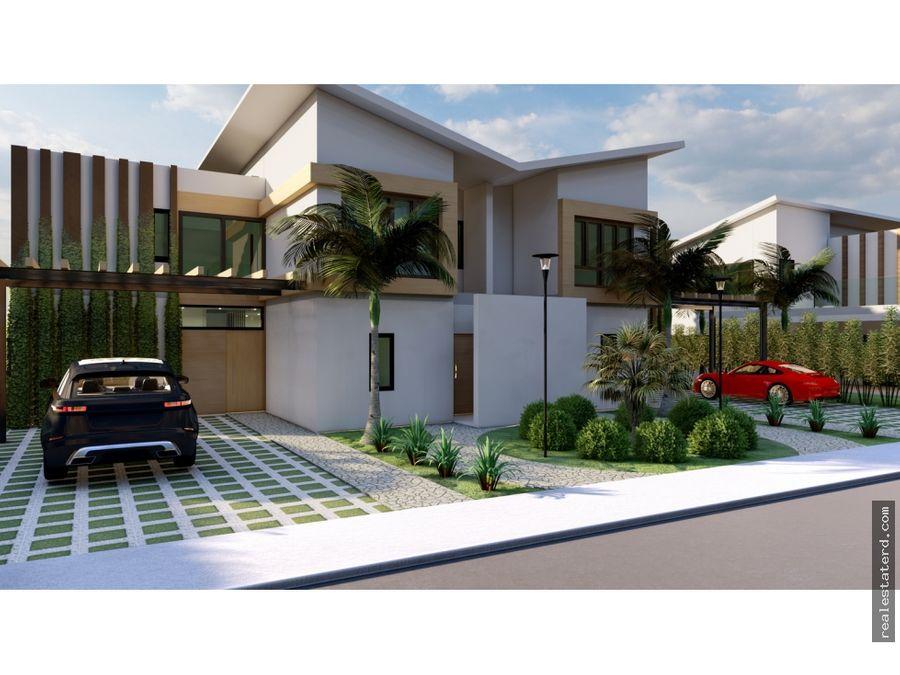 villa townhouse de 3 hab en construccion en puntacana village