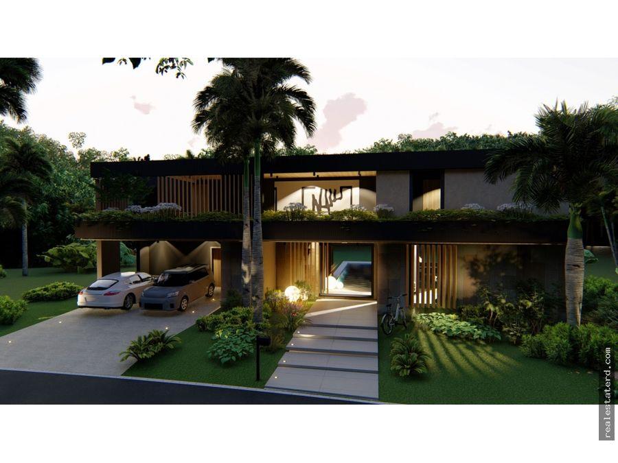 villa fira con 4 hab en construccion en caleton cap cana