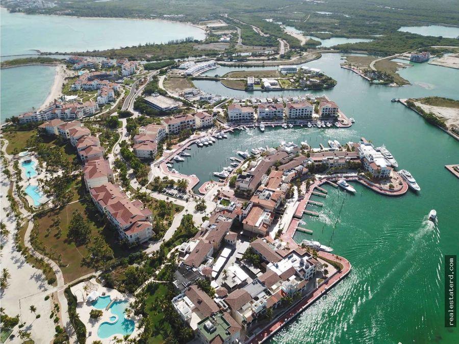 apartamento de 2 hab con vista a la marina en aquamarina cap cana