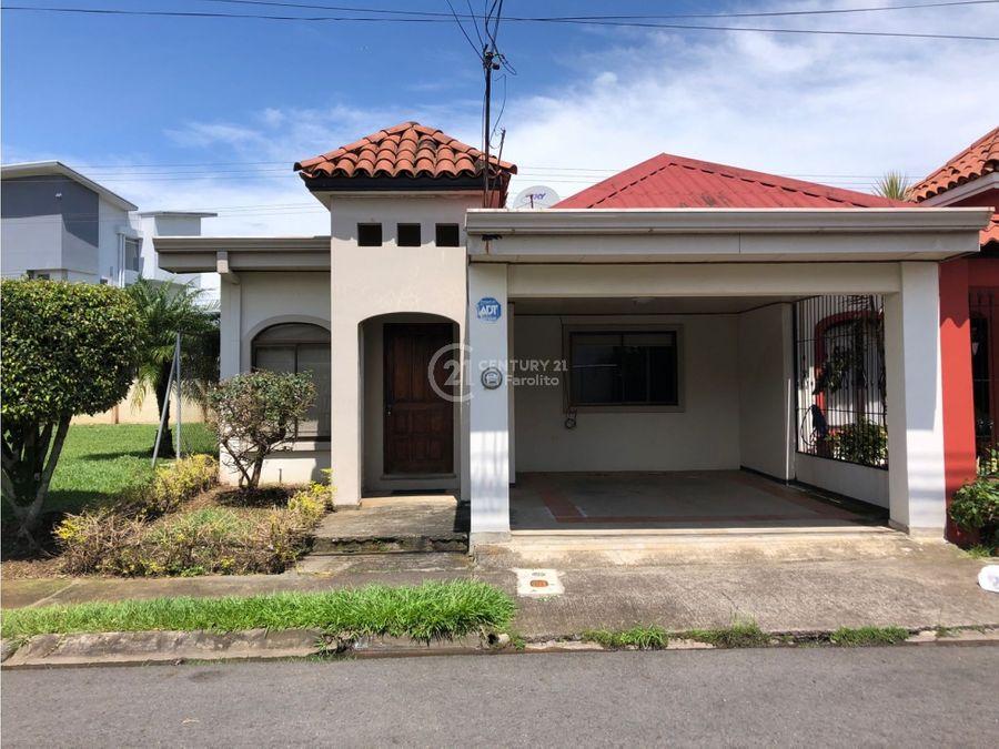 alquiler de casa en residencial en lagunilla de heredia