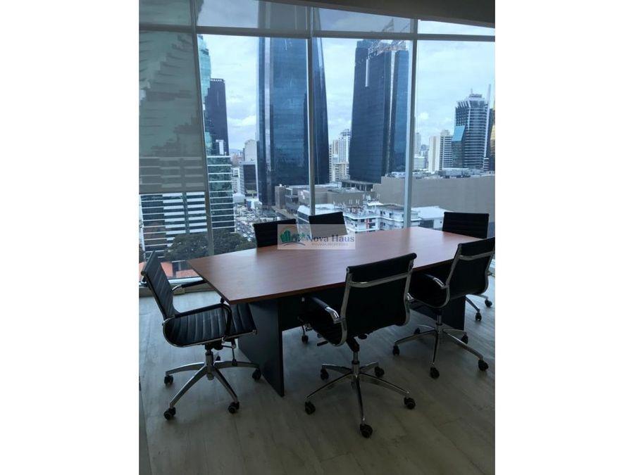alquiler oficina amoblada en calle 50 edif global bank