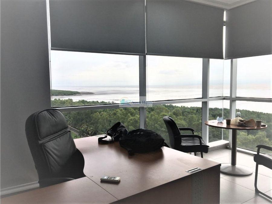 oficina amoblada en alquiler frente al mar costa del este