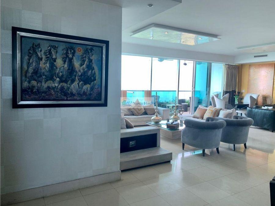 venta hermoso apartamento frente al mar costa del este