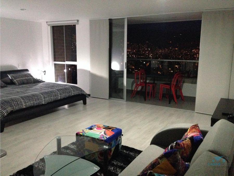 apartamento en venta en el poblado palmas tipo loft