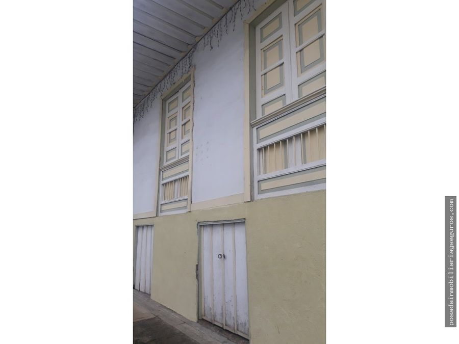 venta casa tipica original filandia