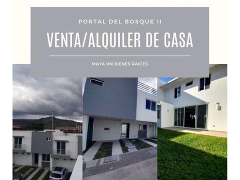se vendealquila casa en portal del bosque ii tegucigalpa