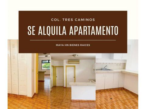 se alquila apartamento en tres caminos