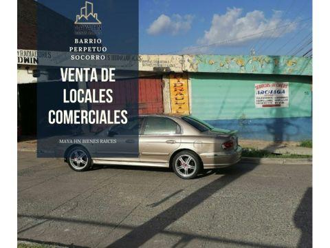 se venden locales comerciales en el barrio perpetuo socorro