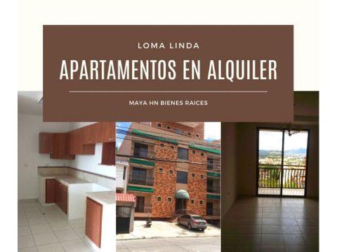 se alquilan apartamentos en residencial loma linda norte