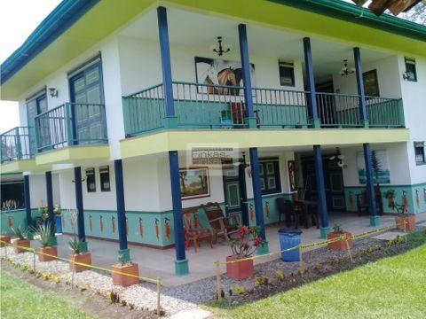 se vende finca hotel quimbaya panaca