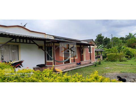se vende casa campestre entre filandia quimbaya