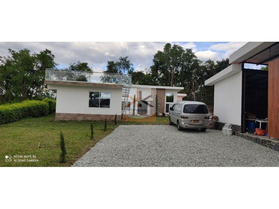 se vende casa en condominio campestre entre la tebaida pueblo tapao