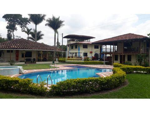 se vende finca hotel en quimbaya vda trocaderos