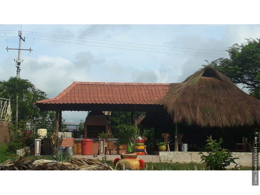 cabana 30 personas piscina en turbaco bolivar