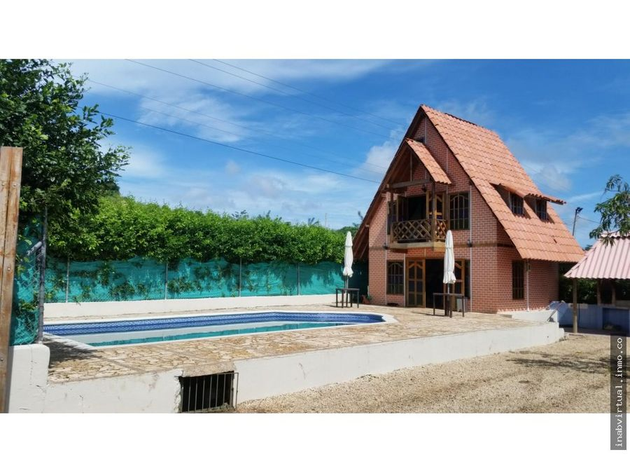 cabana con piscina en la via turbaco por dias