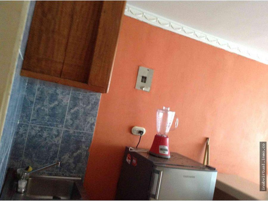 apartamento amoblado 1 hab 4 per 160mil 1105eco