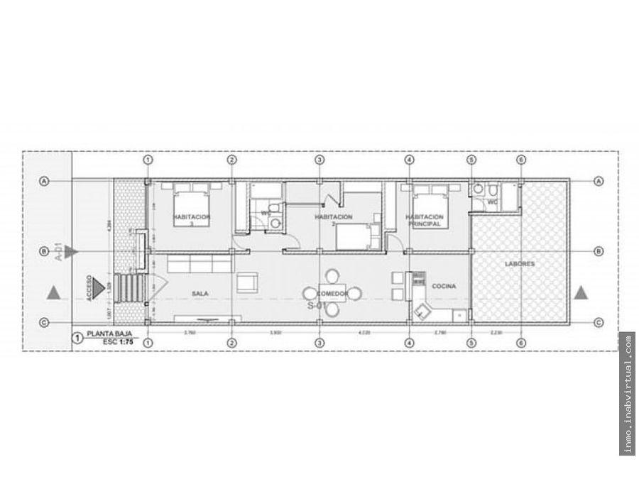 casa de una planta en plan parejo turbaco