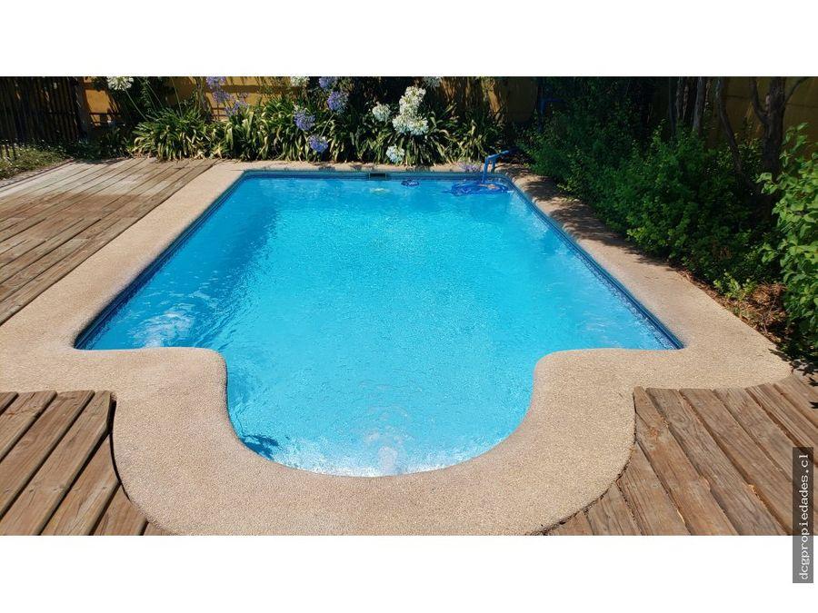 chamisero 4 dormitorios piscina terraza techada