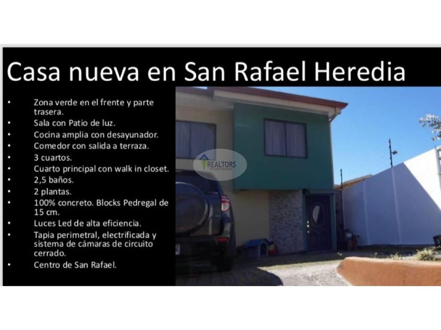 venta de casa en san rafael de heredia