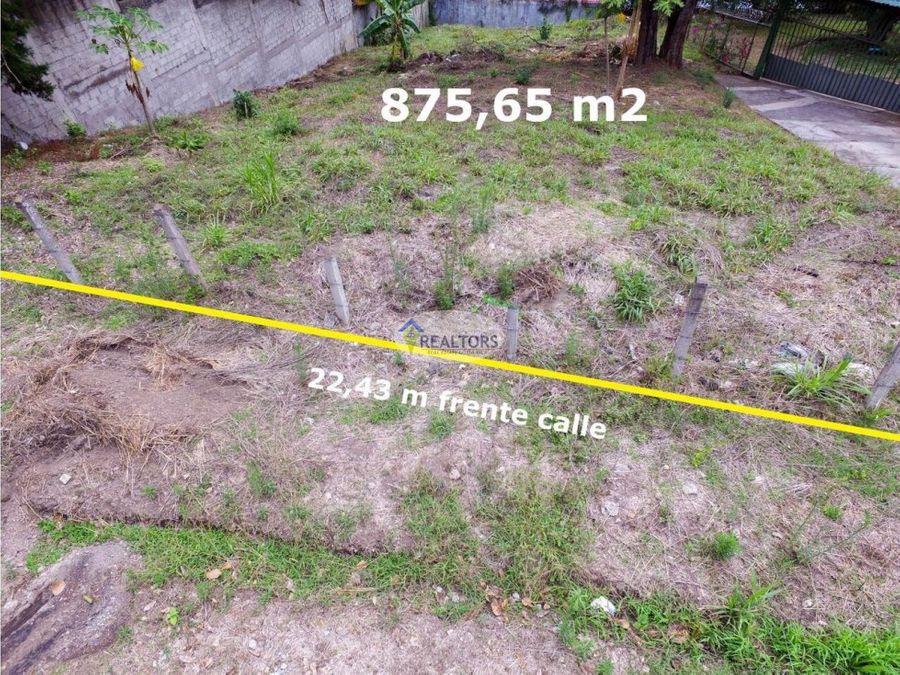 venta de terreno en escazu
